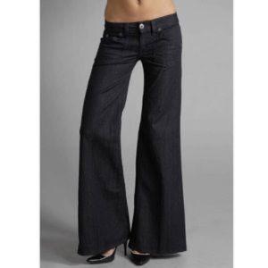 Hudson wide leg trouser black jeans